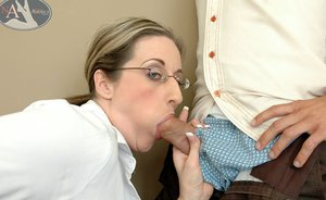 Chubby mature teacher Kitty Lee fucking and giving awesome titjob