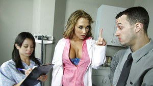 Hot doctor with big boobs Nikki Sexx in hardcore anal fucking