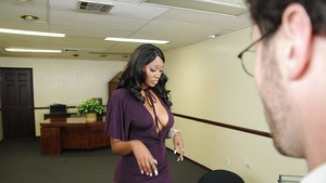 Hot ebony in stockings Nyomi Banxxx got her gorgeous black booty fucked