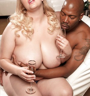 fat blonde interracial - ... Chubby blonde with massive boobs Sadie Berry loves interracial sex ...