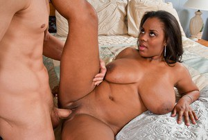 Young black babe Alia Starr got her plump booty banged hardcore