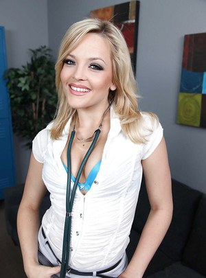 Blonde cutie with tiny tits Alexis Texas is playing with herself