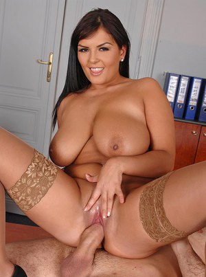 Lovely Jasmine Black with big tits is fucked by a hard dick