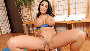 Tattooed Sienna West with big tits with a flexy pussy for a huge cock