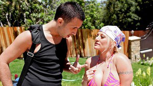 Mature Charity McLain with big tits has sex with a monster cock