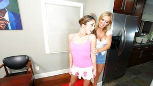 Lesbians Tanya Tate and Isabella Sky are getting mean to each other