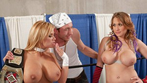 Shyla Stylez and Alanah Rae with big tits crave for hot groupsex