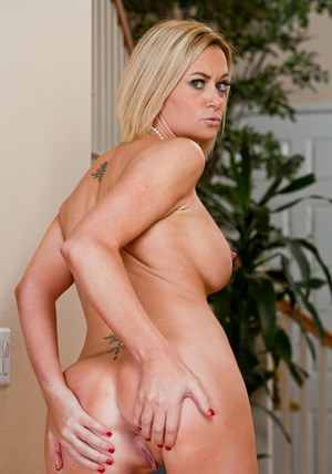 Blond MILF Camryn Cross showing off comely boobs and big ass
