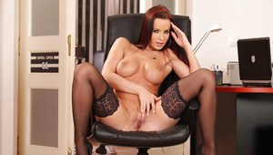 Euro office whore Cindy Dollar shows her amazing perfect body