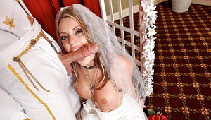 Amazing pornstar Courtney Cummz gets fucked right after the wedding