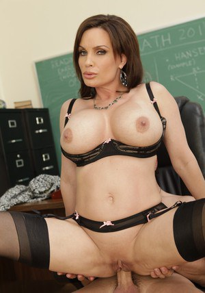 Slutty MILF teacher Diamond Foxxx gets a creamy load on her breast
