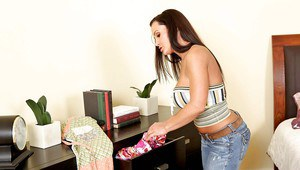 Lesbian babes Tori Black and Lisa Ann are toying each other