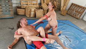 Katie Kox and Harmony Rose are into catfight and tough groupsex