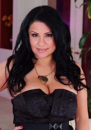 Latina milf with huge tits Sophia Lomeli has her fingers in the pussy