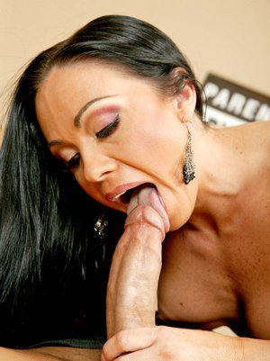 Ravishing MILF with huge tits Cherokee scoring a cock in her pussy