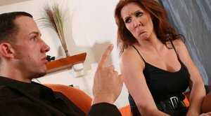 Stunning MILF Morgan Reigns meets the biggest cock to fuck
