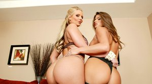 Amazing wives Phoenix Marie and Madelyn Marie pose naked together