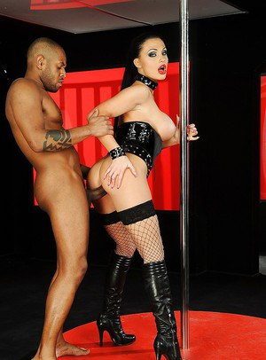 Pornstar Aletta Ocean gets kinky and shows hardcore interracial fuck