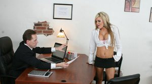 Office hottie Crista Moore is always ready for a hardcore penetration
