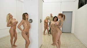 Jailbird Shyla Stylez with big tits into a hardcore fuck in the shower