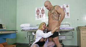 Babe in uniform with huge melons Memphis Monroe fucking a stiff cock