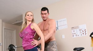 Mature babe with big boobs Julia Ann gets a massive cock to fuck