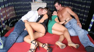 Lily Paige and Cherokee get into a swingers party to have an orgy