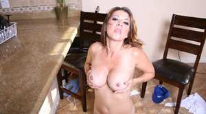 Mature babe Raquel Devine shows her boobs and gets fucked hardcore