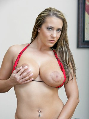 Hot MILF with big boobs Trina Michaels is toying her tight butthole