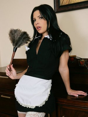 Sexy wife with tiny tits Rebeca Linares spreading and fingering pussy