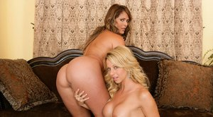Mature lesbians Monique Fuentes and Brianna Beach showing big tits