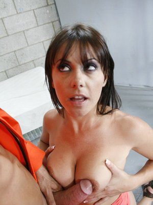 Amazing babe Penny Flame with small tits has a cock in her cunt