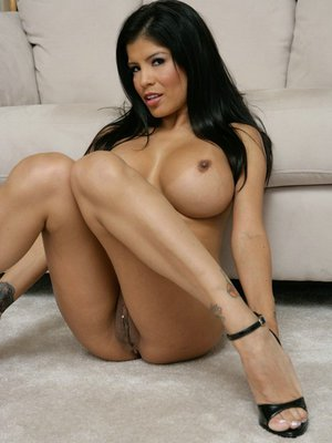 Latina MILF Alexis Amore is stripping and masturbating her pussy
