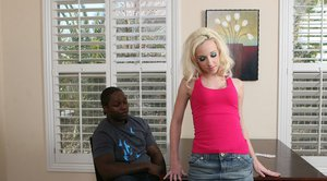 Teen babe Jada Stevens gets fucked by a stiff black cock