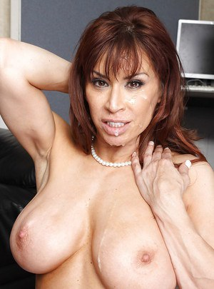 Busty latina MILF Devon Michaels drilled by a big cock in her office