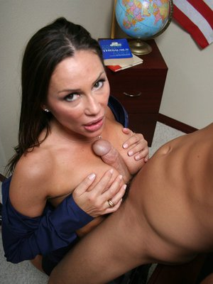 Stunning MILF Sky Taylor takes a big cock in her hot pussy in school