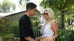 Extremely hot MILF Brittany Andrews gets her huge tits creamed