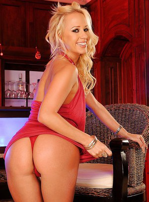 Glamorous pornstar Carla Cox strips off sexy red minidress and panties