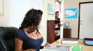 Busty teacher Rachel Starr got her juicy hole fucked in the classroom