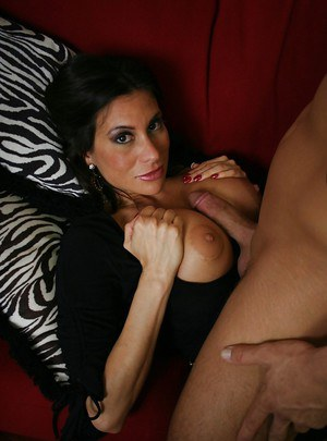 Latin mom with huge tits Sheila Marie bouncing on a hard dong
