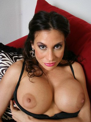 Mature latina Sheila Marie denudes her massive tits and flashes pussy