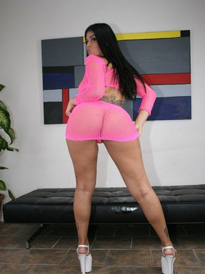 Busty Latina with a big ass Olivia Olovely masturbating her cunt