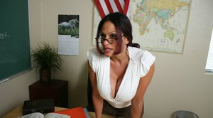 Busty MILF teacher Ava Lauren has hardcore sex in the classroom