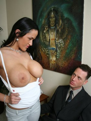 Hot MILF with big hooters Carmella Bing gets her cunt banged in office