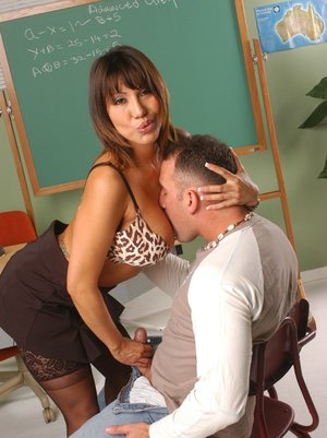 Big titted Asian MILF teacher Ava Devine satisfies a big dick