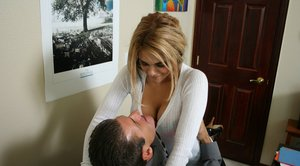 Big titted babe Carmel Moore in stockings has sex in office in reality