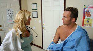 Big titted MILF babe in office uniform Shyla Stylez gets banged