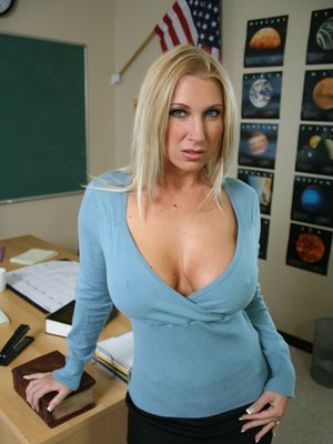 MILF teacher with huge hooters Devon Lee showing her sweet cunt