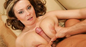 Busty MILF Bianca gets her cunt fingered and banged with a meaty cock