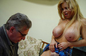 MILF babe with big tits Chantz Fortune gets her cunt liked and banged